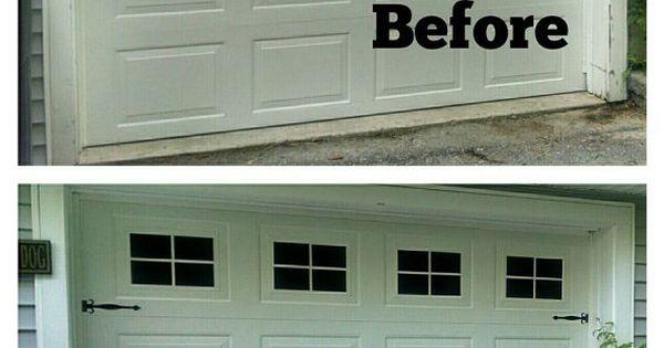 Faux fake garage door windows custom by bigevilgrincustoms for Faux garage door