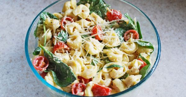 Chicken Tortellini Salad. Best salad ever!! I made it tonight and my