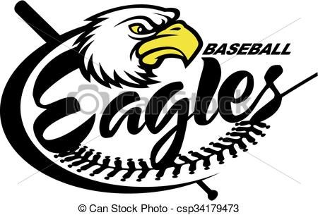 Vectors Illustration Of Eagles Baseball Team Design With Mascot For School College Csp34179473 Search Clipart Illustratio Softball Logos Eagles Baseball