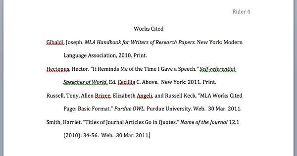 How to make a citation page for an essay - www.yarmina.com