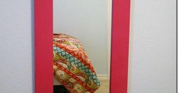 Mirror Makeover for Little Girls Room