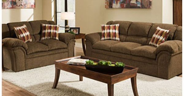 Simmons Verona Chocolate Chenille Living Room Collection