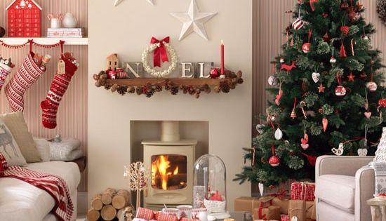 Super weihnachtliches wohnzimmer deko weihnachten for Deko rot wohnzimmer