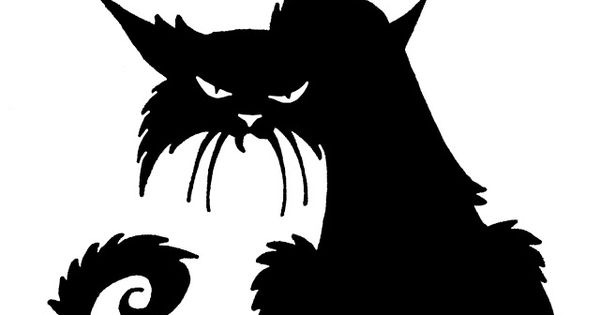 DAVE LOWE DESIGN the Blog: Witchcrafty Window Silhouette Printables creepy ol cat