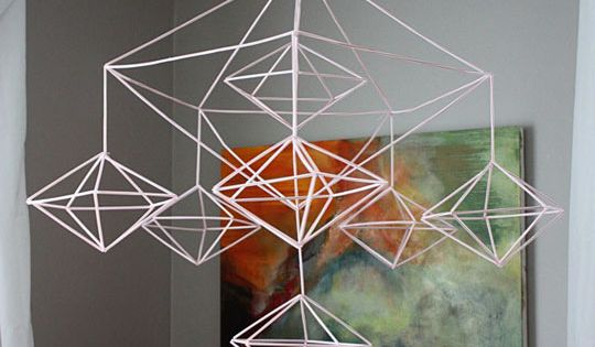 This is sweet!!! Awesome tutorial for making a Decahedron Himmeli Mobile. Cool