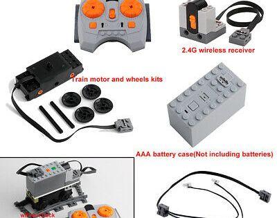 7pcs Set Technic Power Functions Moc Train Motor Ir Remote Receiver Battery Box Lego Technic Lego Trains Remote