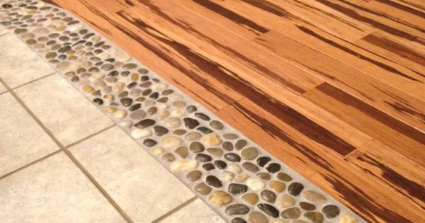 Love My Diy Floor Project River Rock Amp Strand Bamboo