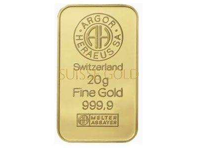 Argor Heraeus 20 Gram Gold Bar Gold Bullion Bars Buying Gold Gold Investments