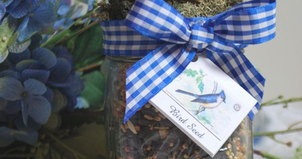 Make a bird seed gift jar! This would be great to give