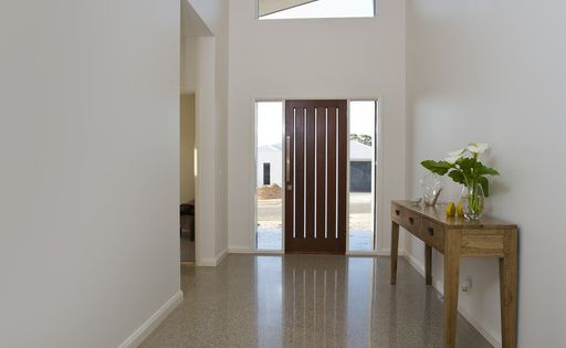 Entrance Raked Ceiling And Windows Each Side Of Door And