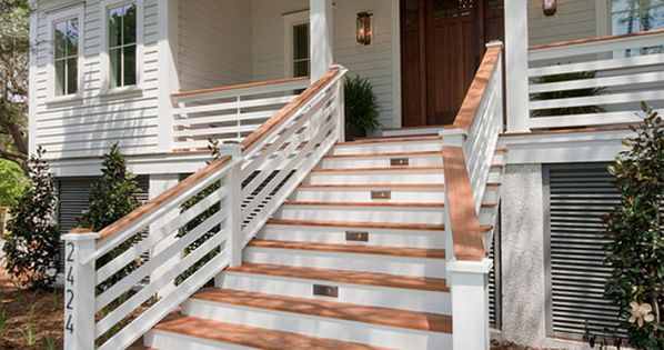 Home Raised Home Siding Ideas Stairs Front Porch Pinterest