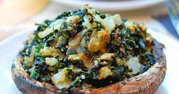 MADE THIS Spinach Stuffed Portobello. Ill twist it to have the artichoke