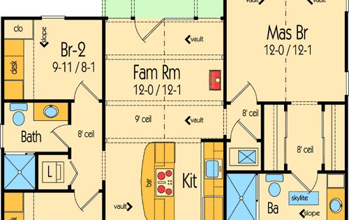 Plan 26669GG: Tiny Two-Way Cottage | Kitchen dining rooms