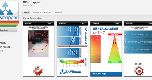 RISKmapper is the ideal risk assessment tool for the workplace - product risk assessment