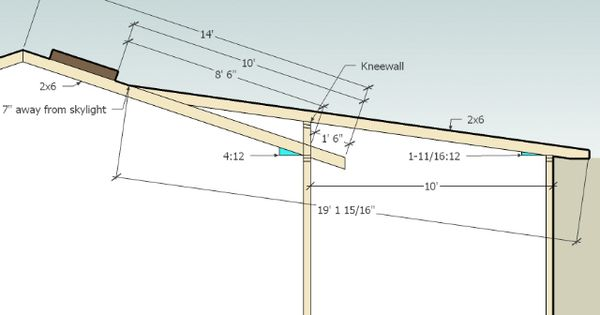 Framing A Roof With Change Of Pitch Google Search Shed
