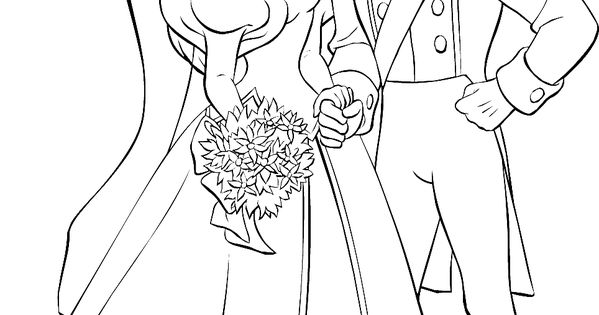 ariel coloring pages wedding flowers | Ariel and Prince Eric Wedding coloring page | Ariel and ...