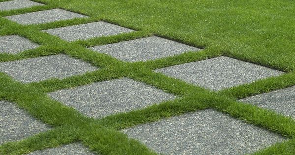 Allee de jardin en pierre all e ext rieure pinterest pavement design tuin and walkways - Prieel tuin leroy merlin ...