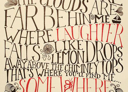 Beautiufl Wizard of Oz Poster for the wee one's room. pinned by