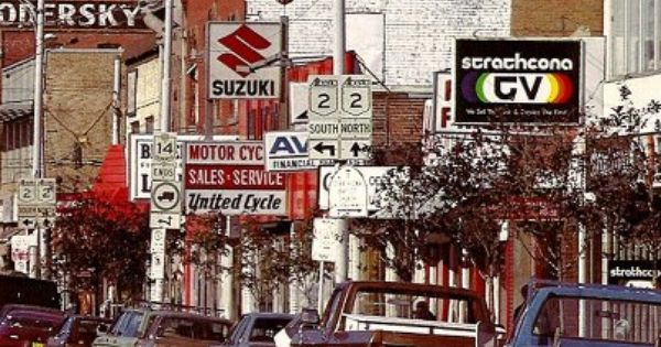 Whyte Ave In The Late 1970 S Or Early 1980 S Before It Was The Cool Hip Place In Edmonton To Go From Vintage Edmonton Alberta Canada Edmonton Western Canada