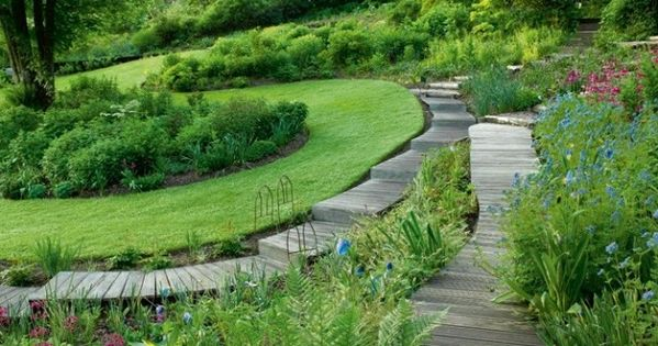 Un jardin design avec des matériaux écologiques | Garden Terracing ...
