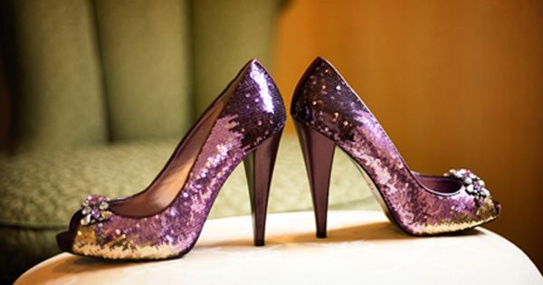 Purple sparkly shoes!!