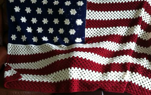 Ravelry Nanadel S American Flag Afghan Crochet
