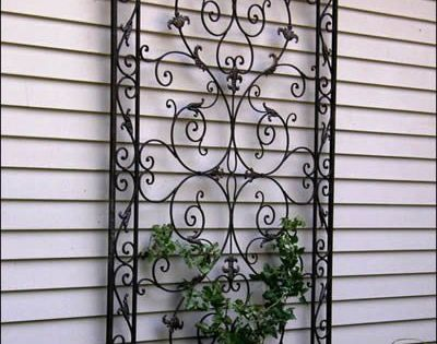Exterior Wall Decoration Ideas: Wrought Iron Trellis