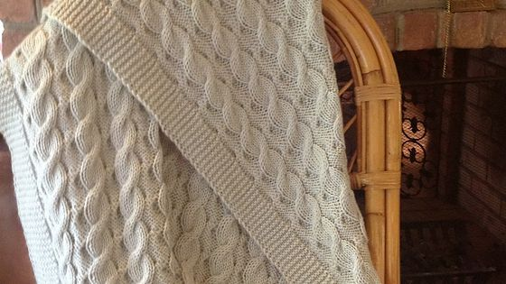 Reversible Cable Knit Afghan Pattern : Reversible Cables Baby Blanket. You know me. If a blanket pattern says revers...
