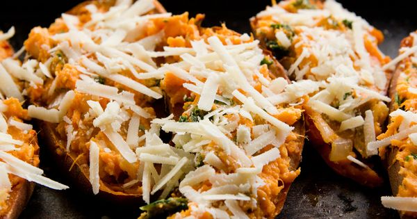 Twice Baked Sweet Potatoes by theyearinfood Sweet_Potatoes