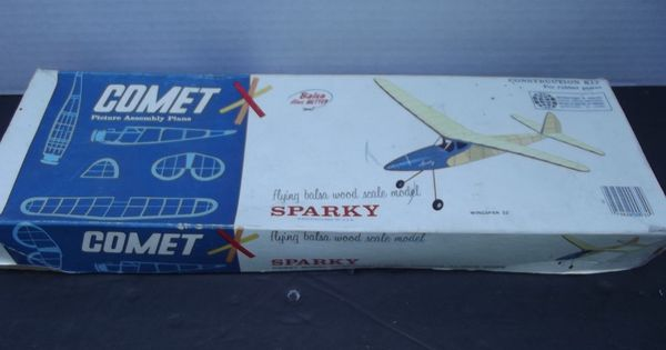 Comet Sparky Balsa Wood Scale Airplane Model Kit Plane
