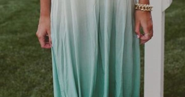 ombre maxi ...like the knot idea.