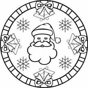 Santa Claus Mandala Coloring Page 2 Mandala Coloring Pages Christmas Mandala Christmas Coloring Pages