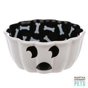 Martha Stewart Pets Ghost Pet Bowl Food Water Bowls
