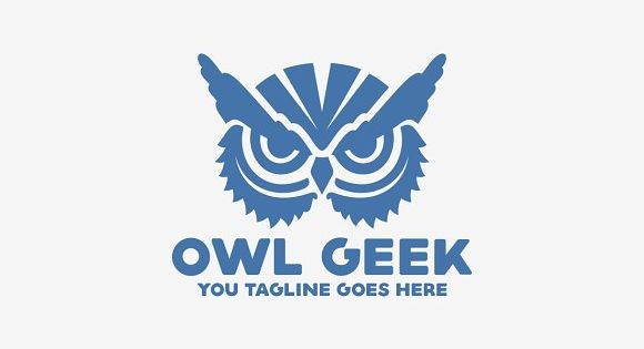 Owl Geek by Brandlogo on @creativemarket