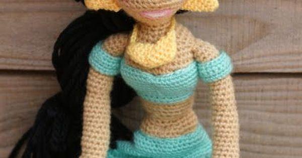 Amigurumi Join : Mi version amigurumi de Jasmine #jasmine #amigurumi # ...