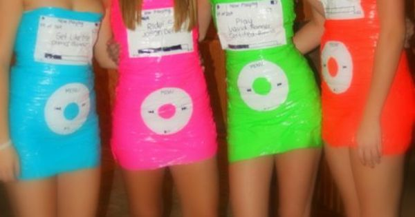 Duck Tape IPod dresses~ so creative! I'm thinking about the DI Globals
