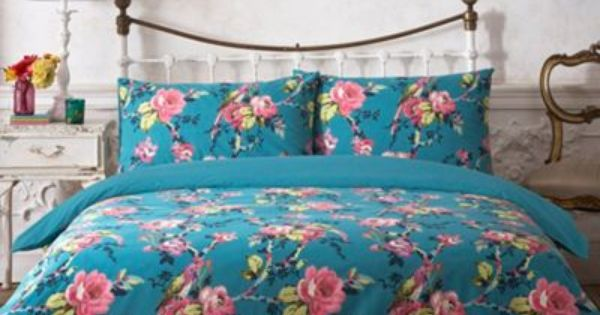 Butterfly Home By Matthew Williamson Designer Teal Parrot Printed Bedding Set At