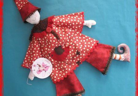Lutin rouge deco accessoire et jouet tissus enfant for Accessoire deco rouge