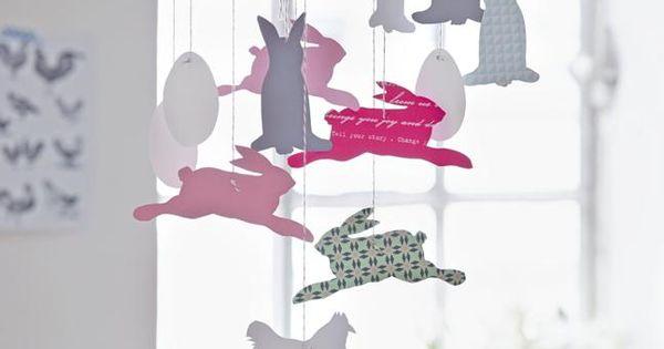 osterbasteln kreative ideen anleitungen zum basteln f r ostern mobiles einrichten wohnen. Black Bedroom Furniture Sets. Home Design Ideas
