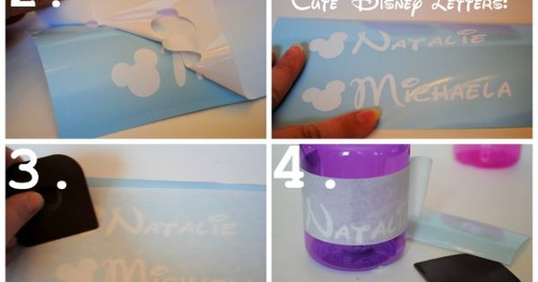 Serenity Now: DIY Personalized Disney Water Bottles: Disney Craft