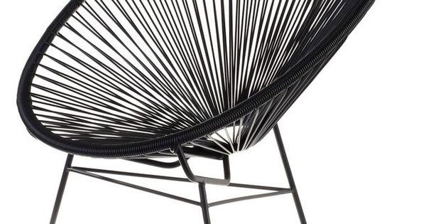 fauteuil acapulco scoubidou noir la chaise longue home pinterest acapulco chair. Black Bedroom Furniture Sets. Home Design Ideas