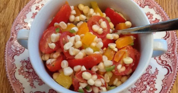 Summer corn salad, Heat waves and Corn salads on Pinterest