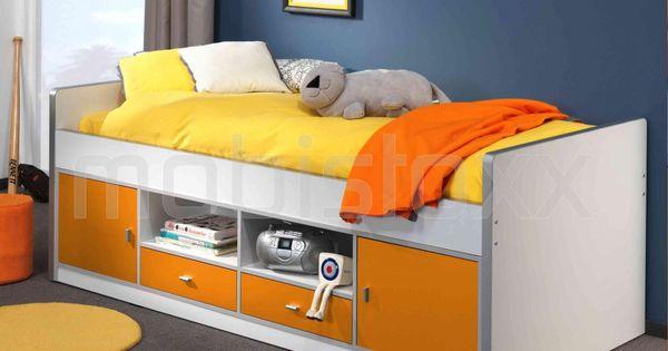 Bed bonny i 90x200 cm oranje mobistoxx meubels online bureau inkom kinderkamer - Bebe deco slaapkamer ...