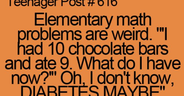So true, math problems make no sense