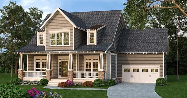 Cape cod cottage country craftsman house plan 72688 for Craftsman cape cod