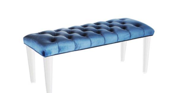 Ce banc en velours capitonn plac au pied d un lit ou dans un salon peut cr - Cacher un lit dans un salon ...