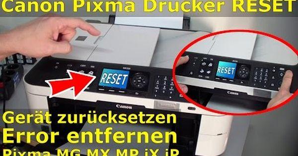How To Hard Reset Canon Printer Error Youtube Drucken Reparieren Canon