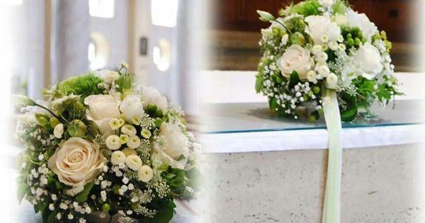 Blumenschmuck Kirche grün-weiß  Dream Wedding Grün-Creme-Weiß ...
