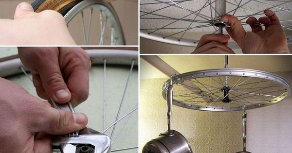 Bicycle Wheel Pot Racks Unique Recycling Projects