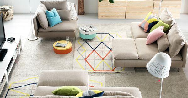 IKEA 모듈소파를 활용하여 3개의 구역으로 꾸민 거실  집에 관한 ...
